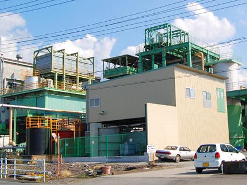 製紙工場鉄骨プラント工事(富士市内)