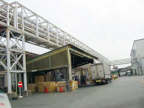 製紙工場パイプラック(富士市内)